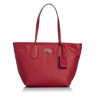 Coach Current Embossed Leather Large Taxi Tote -33915 Red