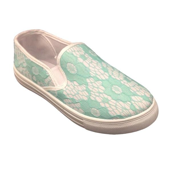 Women's Lace Slip on Sneaker Shoe