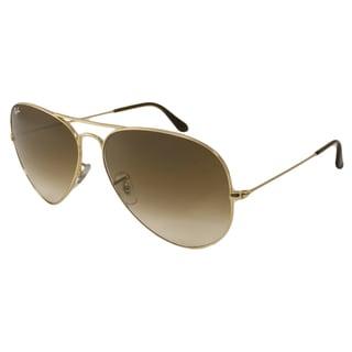 Ray-Ban Men's/ Unisex RB3025 Aviator Large Metal Aviator Sunglasses