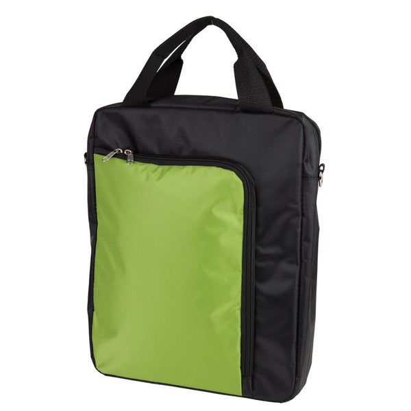 Vertical Polyester Messenger Bag