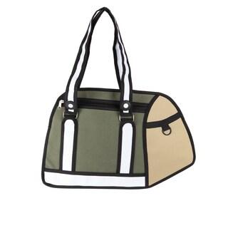 Caricature Messenger Bag Green Polyester Messenger Bag