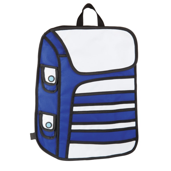 Cartoon Blue Polyester Backpack