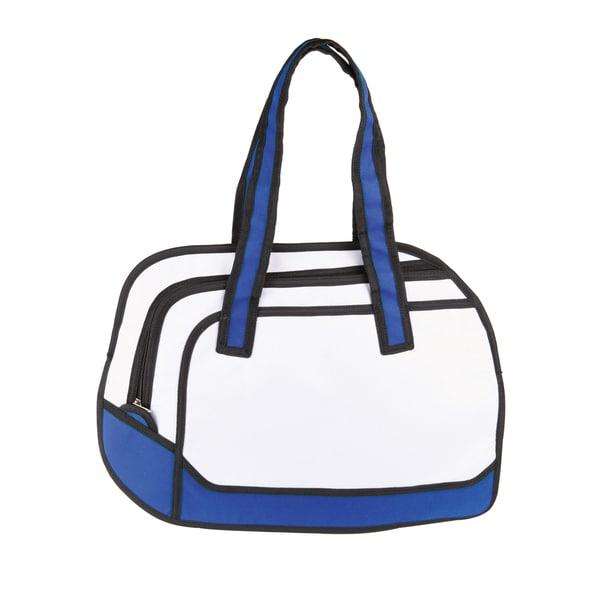 Flat Airline Messenger Bag Blue Polyester Messenger Bag