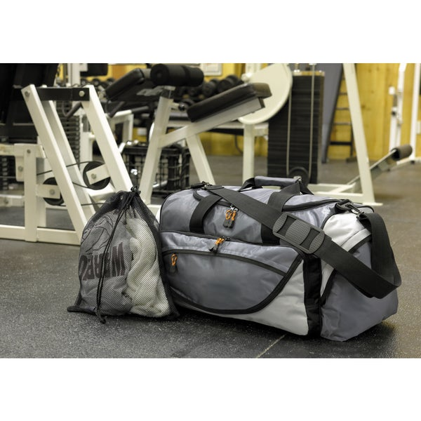 Urban Grey Polyester Gym Bag