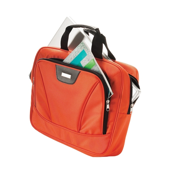 Added Performance Computer Case Orange Polyester Briefcase
