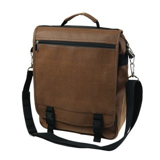 Protector Brown Faux Leather Messenger Bag
