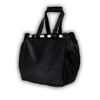Supermarket Cart Black Polyester Shopping Bag