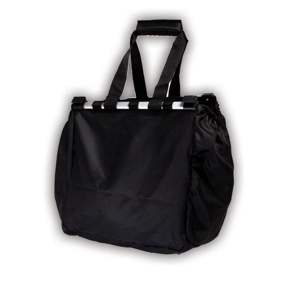 Supermarket Cart Black Polyester Shopping Bag