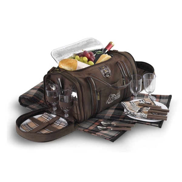 Sedona Picnic Set Brown Polyester Lunch Bag