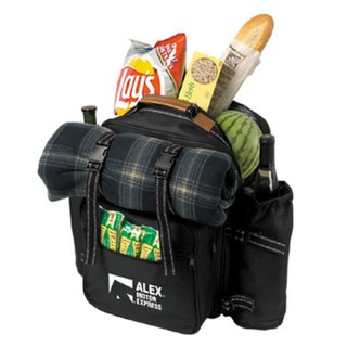 Ultimate Picnic Set Black Polyester Lunch Bag
