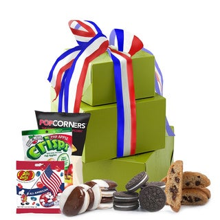 Celebrate Independence Day, July 4th Gluten Free Gift Tower, Large, 2 pounds