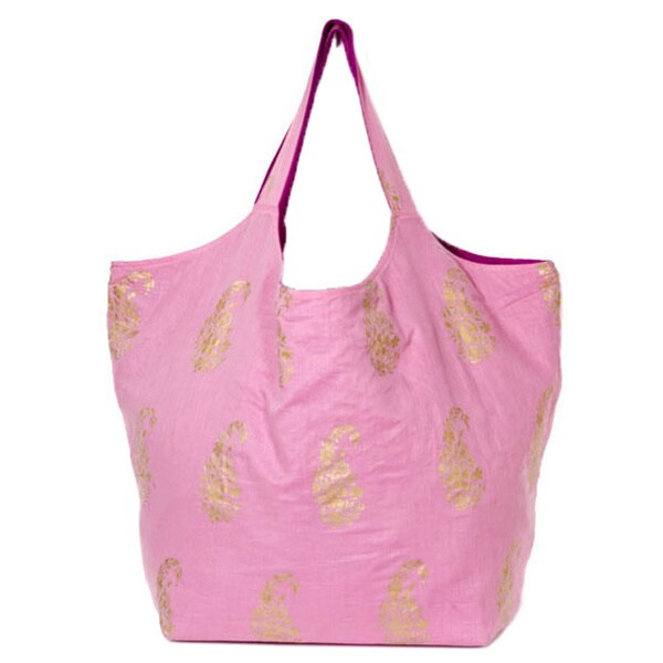 Cotton Soft Pink Duchess Tote (India)