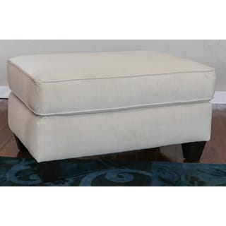 Somette Columba Velveteen Beige Cocktail Ottoman