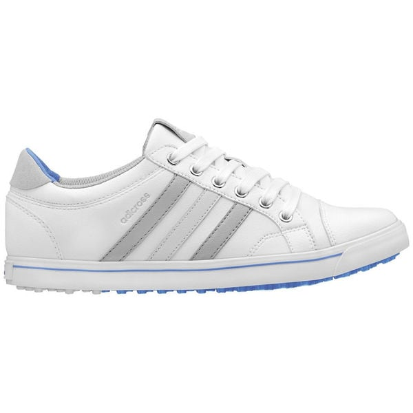 adidas Women's Adicross IV Golf Shoe Q47023 Spikeless White/ Blue