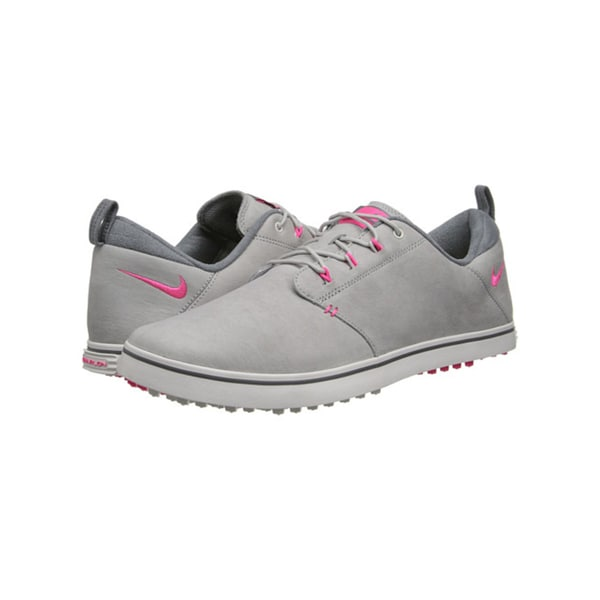 Nike Women's Lunar Adapt Golf Shoes 652527-001 Spikeless Grey/ Pink/ White
