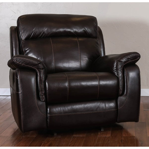 Somette Glasgow Series Black Action Fabric Rocker Recliner