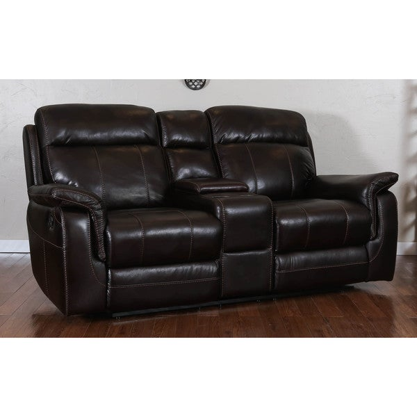 Somette Glasgow Series Black Action Fabric Reclining Studio Sofa