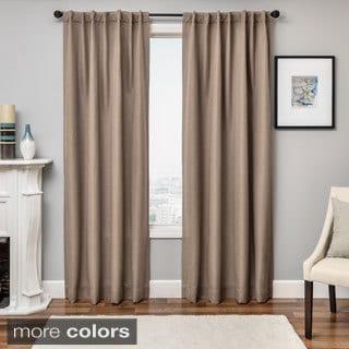 Solara Faux Linen Blackout Curtain Panel