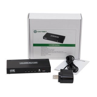 IOCrest LED 4-Port HDMI 1.3 Splitter Box Distributes High-Definition Signal to 4 HDTV with 44-inch Cable