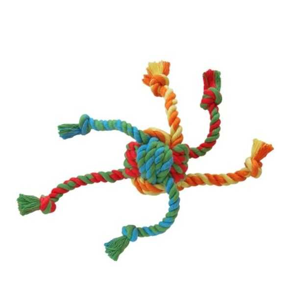 Insten Knotted Rope Pull and Tug Toy for Dogs/ Pets