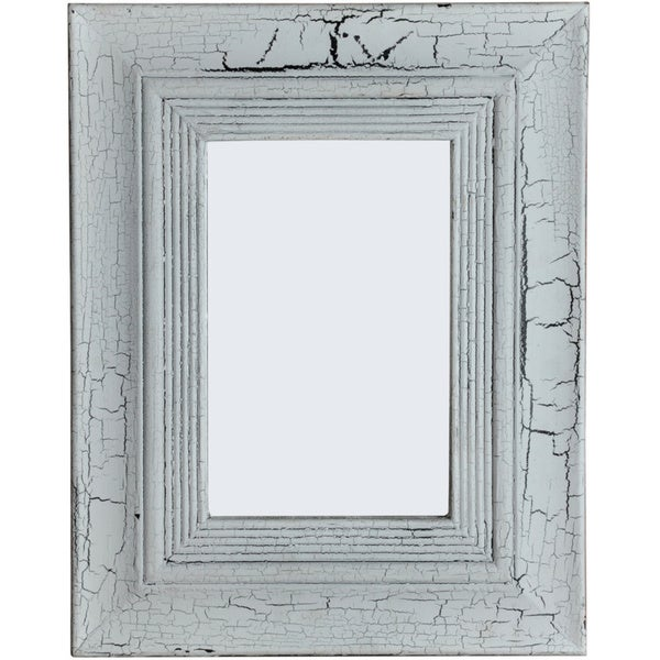 Pale White Wash Wood Frame Mirror