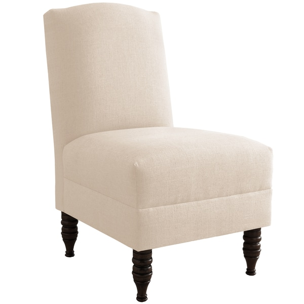 Made to Order Off-white Linen High Back Armless Chair