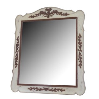 French Heritage Normandy Carved Mirror
