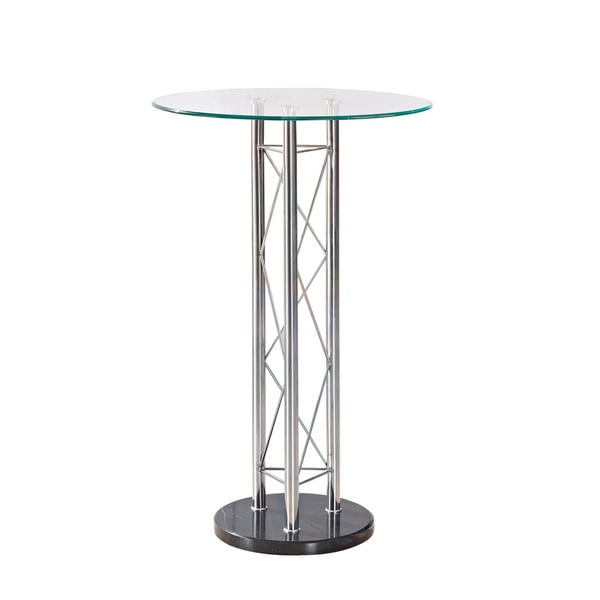 Chrome Metal Circular Bar Table