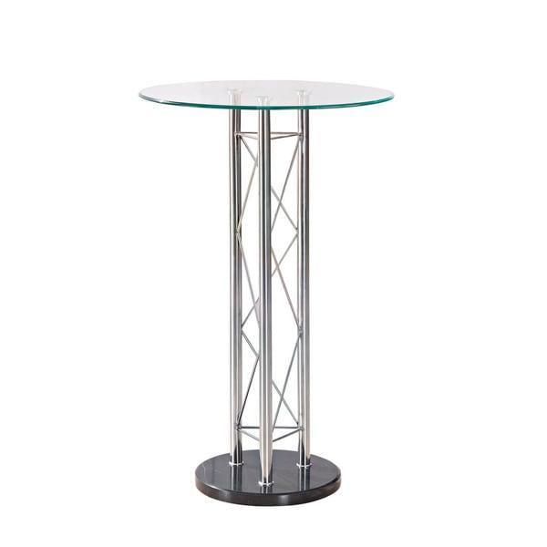 Chrome Metal Circular Bar Table
