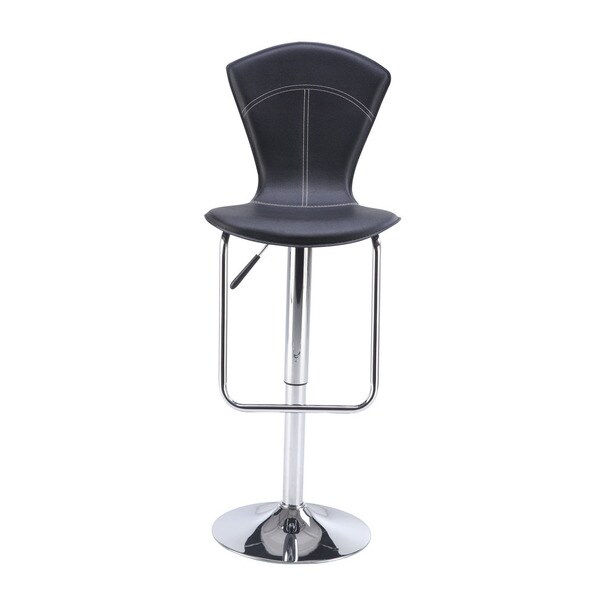 Adjustable Black Bar Stool