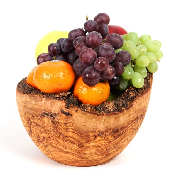 Handmade Olive Wood Rustic Fruit Bowl