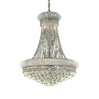 Elegant Lighting 24-inch Chrome Royal Cut Crystal Clear Hanging Fixture