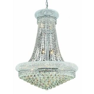 Elegant Lighting 28-inch Chrome Royal Cut Crystal Clear Hanging Fixture