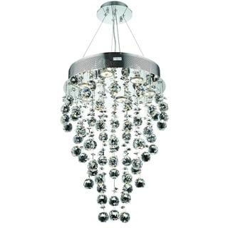 Elegant Lighting Chrome 16-inch Royal Cut Crystal Clear Hanging Fixture