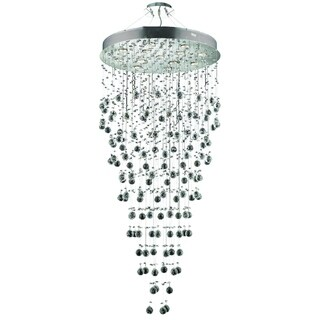 Elegant Lighting Chrome 28-inch Royal Cut Crystal Clear Large Hanging Fixture
