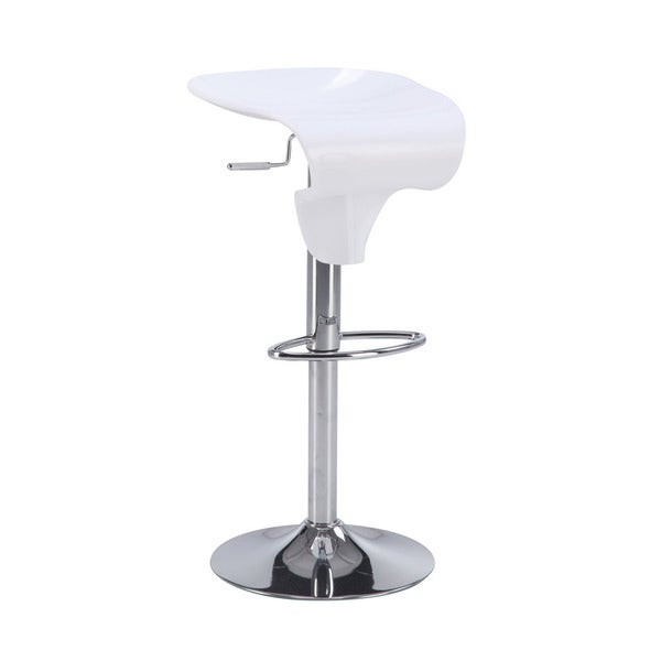 White Moulded Bar Stool