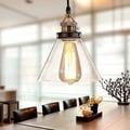 Zhuri 8-inch Adjustable Cord Glass Edison Lamp