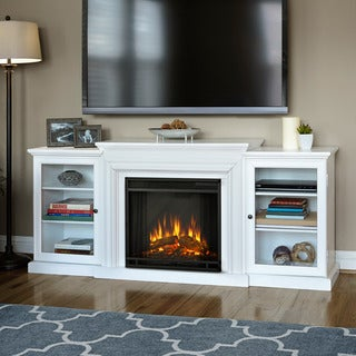 Real Flame Frederick White Electric Fireplace Entertainment Center