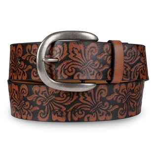 Journee Collection Women's Embossed PU Leather Belt