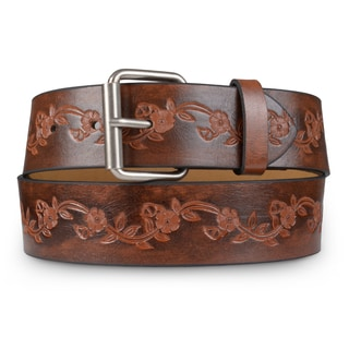Journee Collection Women's Embossed Faux Leather Belt