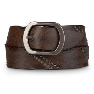 Journee Collection Women's Distressed Faux Leather Belt