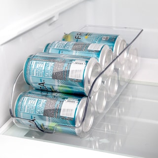 Stackable Clear Plastic Refrigerator Soda Can Bin