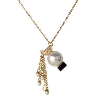 Brass Zodiac Horoscope Pearl Charm Necklace