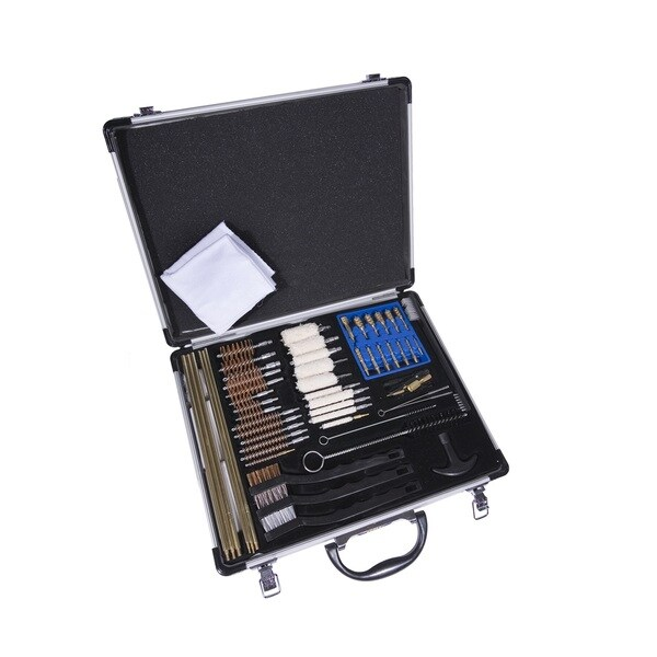 Gunmaster Univ Select 63 Pc Gun Cleaning Kit Aluminum Case