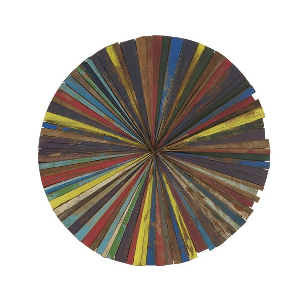 Round Wall Art Decor : Wooden round wall decor overstock ping big