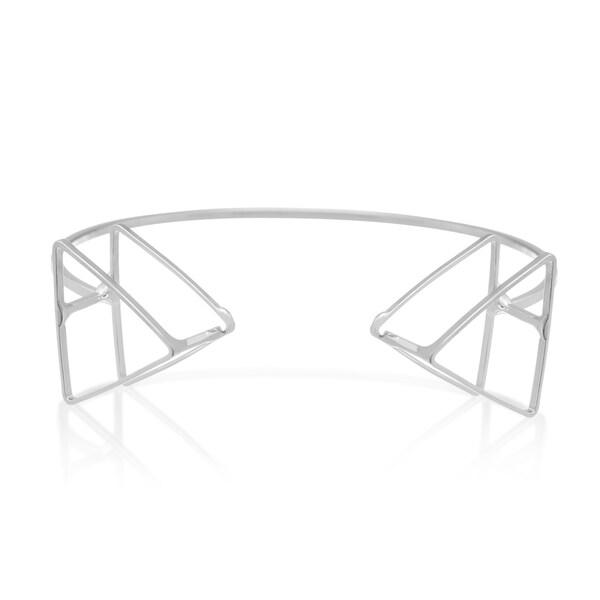 Adoriana Silver Triangle Cuff Bracelet