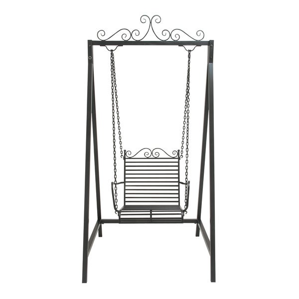 Black Metal Swing Chair