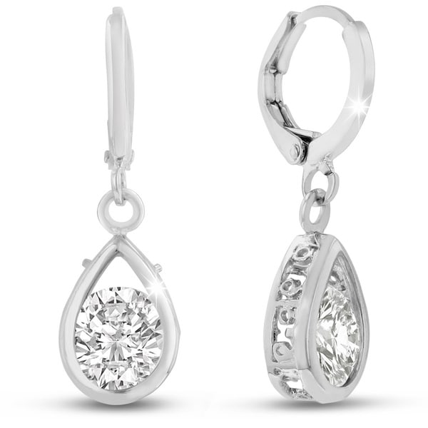 Adoriana Silver Pear Shape Drop Earrings 15519101