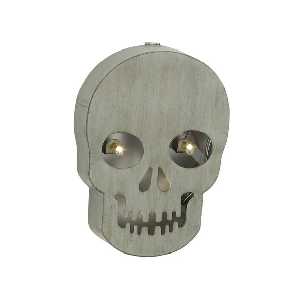 Metal Led Marquee Skull