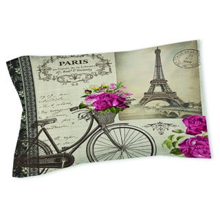 Thumbprintz Springtime in Paris Bicycle Sham